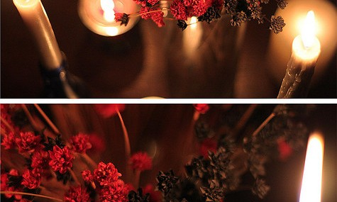 Outdoor Wedding Ideas: Candlelight Ceremony
