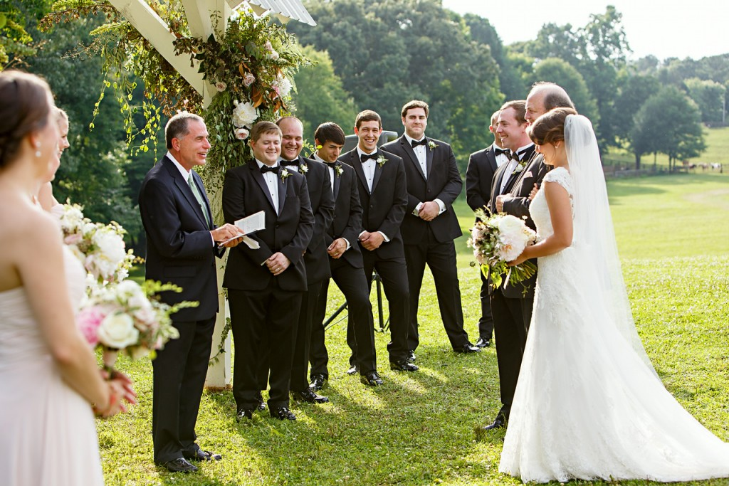 Wedding Ceremony in a Pasture