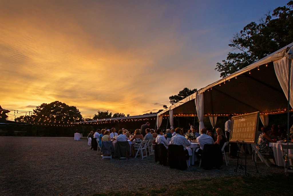 Sunset at the Outdoor Wedding