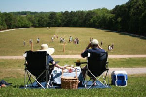 spectators watching polo activities