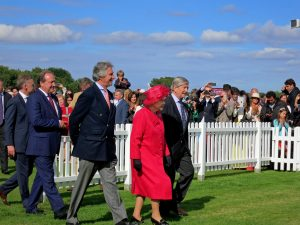 queen elizabeth ii - polo match