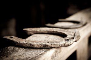 horseshoe in barn